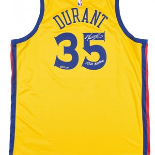 Kevin Durant Signed LE The City Edition Jersey Inscribed