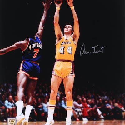 Jerry West Signed Los Angeles Lakers 16x20 Photo (PSA COA)
