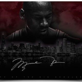 purchase cheap ef5d5 882c3 Michael Jordan Signed LE Bulls