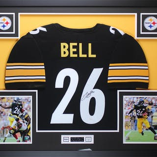 Leveon Bell Signed Steelers 35x43 Custom Framed Jersey (JSA COA) – Current  sales – Barnebys.com 748e37604
