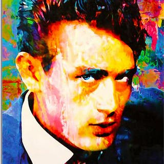 """""""James Dean Lifes Significance"""" 22x32 Contemporary Hollywood Pop Art"""