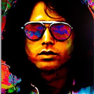 """Jim Morrison Insightful Chaos"" 22x32 Contemporary Rock Star Pop Art"