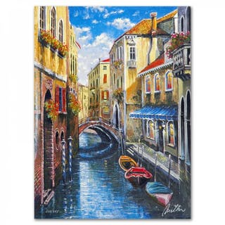 """Anatoly Metlan Signed """"Venice"""" Limited Edition 9x12 Lithograph"""