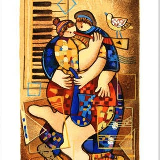 """Dorit Levi Signed """"Trumpet of Love"""" Limited Edition 7x10 Serigraph"""