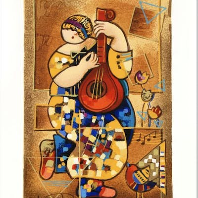"Dorit Levi Signed ""Banjo Song"" Limited Edition 7x10 Serigraph"