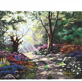 """Anatoly Metlan Signed """"Rays of Sunshine"""" Limited Edition 20x17 Serigraph"""