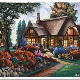"""Anatoly Metlan Signed """"Country House"""" Limited Edition 20x17 Serigraph"""