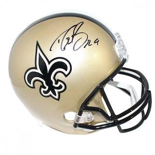 a2bd09767 Drew Brees Signed Saints Full-Size Helmet (Steiner COA) – Current sales –  Barnebys.com