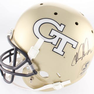 Calvin Johnson Signed Georgia Tech Yellow Jackets Full-Size Helmet (JSA COA)