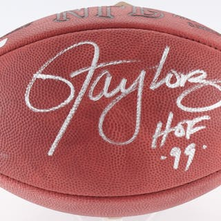 984572583453 Lawrence Taylor Signed Official NFL Game Ball Inscribed