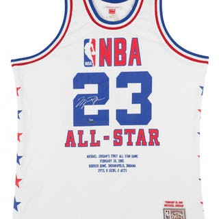 factory price c83be 22070 Michael Jordan Signed LE 1985 NBA All Star Authentic Mitchell   Ness