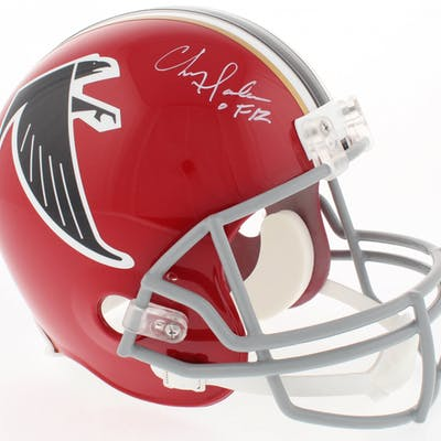 Chris Doleman Signed Falcons Full-Size Throwback Helmet Inscribed