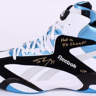 20ac6529e6a5 Shaquille O Neal Signed Limited Edition Size 22 Reebok Shoe Inscribed –  Current sales – Barnebys.com