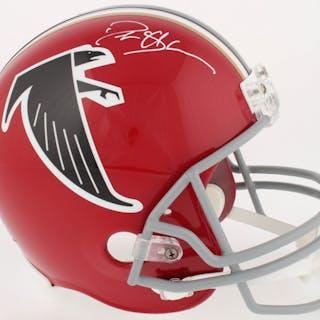 Deion Sanders Signed Falcons Full-Size Replica Helmet (Radtke COA)