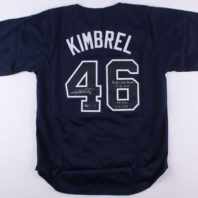 """Craig Kimbrel Signed LE Jersey Inscribed """"Rookie Saves Record 8-31-2011"""""""