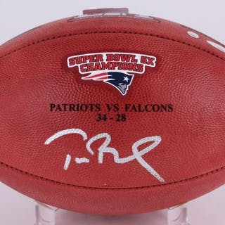 "Tom Brady Signed Super Bowl 51 Limited Edition ""The Duke"" Patriots"