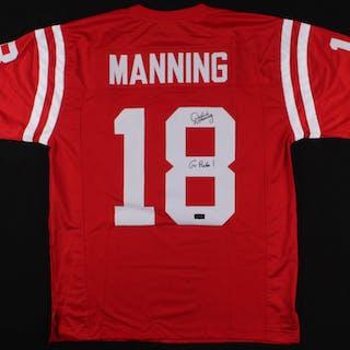 """Archie Manning Signed Ole Miss Rebels Jersey Inscribed """"Go Rebs!"""" (Radtke COA)"""