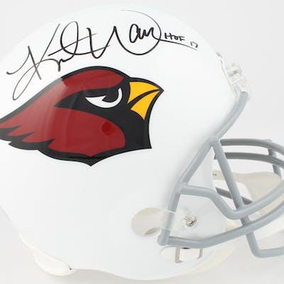 "Kurt Warner Signed Arizona Cardinals Full-Size Helmet Inscribed ""HOF"
