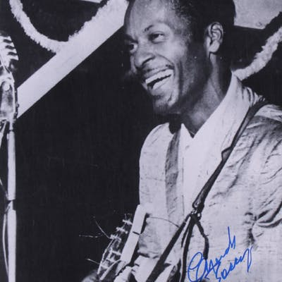 Chuck Berry Signed 11x14 Photo (PSA COA)