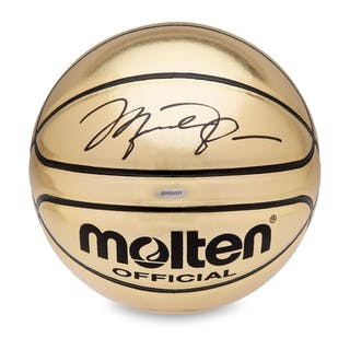 1d24b149d74 Michael Jordan Signed Molten Gold Trophy Basketball (UDA COA) – Current  sales – Barnebys.com