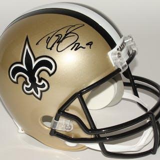 7268dcfb7 Drew Brees Signed Saints Full-Size Helmet (Beckett COA) – Current sales –  Barnebys.com