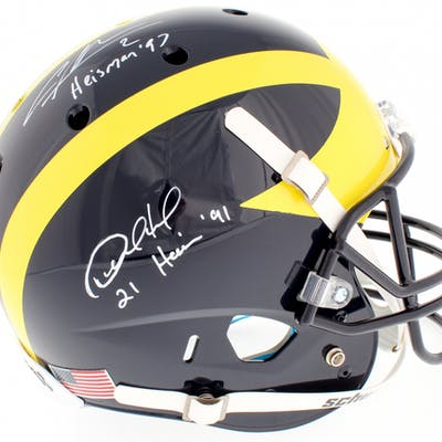 Desmond Howard & Charles Woodson Signed Michigan Wolverines Full-Size