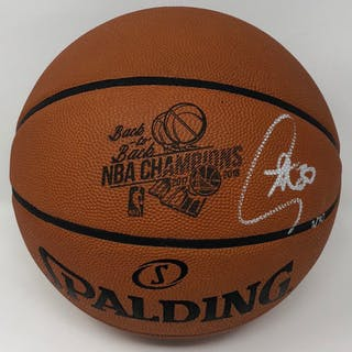 """Stephen Curry Signed """"Back-to-Back NBA Champions"""" Limited Edition"""