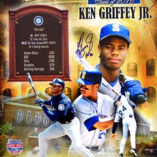 "Ken Griffey Jr. Signed Mariners 16x20 Photo Inscribed ""HOF '16"" (TriStar"