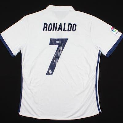 Cristiano Ronaldo Signed Real Madrid Jersey Beckett Coa Barnebys