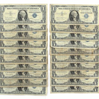 1957 a 1 us silver certificate blue seal current sales