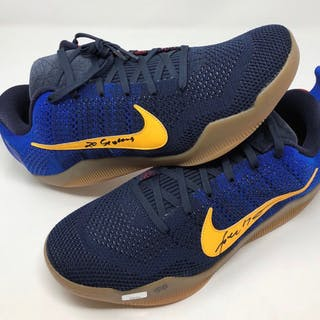 ce7df22815aa Kobe Bryant Signed Pair of Nike Kobe 11 Mambacurial Shoes Inscribed
