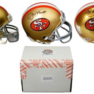 9b4d1f43e San Francisco 49ers Signed Mystery Box Mini Helmet – World Champions