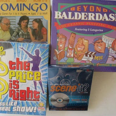 Game lot, Balderdash, Domingo, Scene it and Price is Right