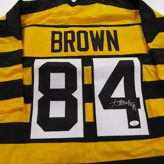 the latest 2621a 2cba7 Antonio Brown of the Steelers signed autographed bumblebee ...