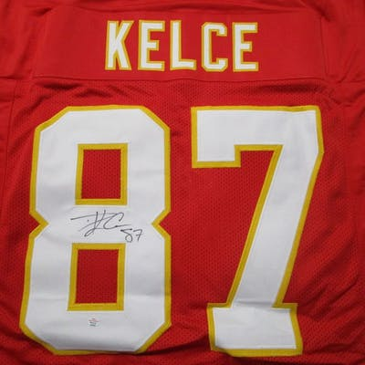 Travis Kelce of the Kansas City Chiefs signed autographed football