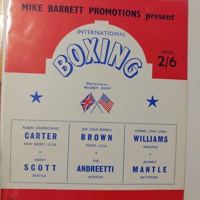 1965 VINTAGE RUBIN HURRICANE CARTER BOXING PROGRAM