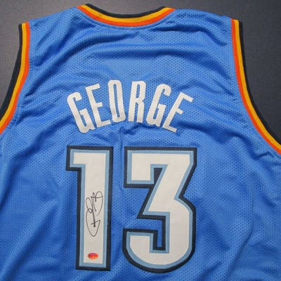 size 40 af7c6 e9d81 Paul George of the OKC Thunder signed autographed basketball ...
