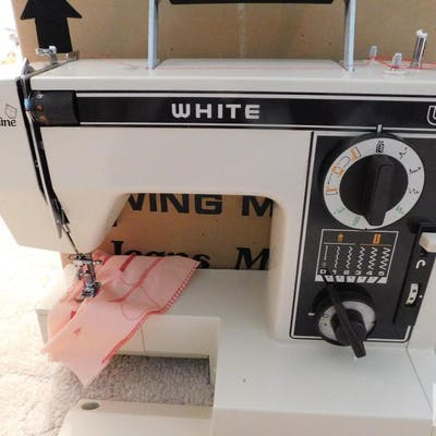 Jeans machine - white sewing machine model #1099