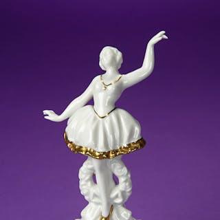 German Porcelain Ballerina with Gold Leaf Edging 150/250