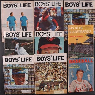 25cf07ab Group of 9 Vintage Baseball Magazines