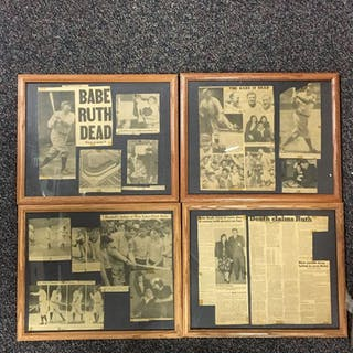 1948 Newspaper Clippings of Babe Ruth?s Death