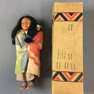 Vintage Skookum The Great Indian Character Doll