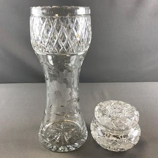 Antique cut glass items