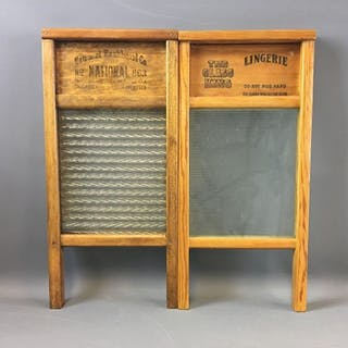 Group of 2 Lingerie Glass Washboards