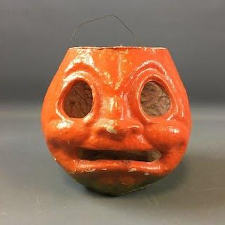 Vintage Halloween Papier-mche Pumpkin