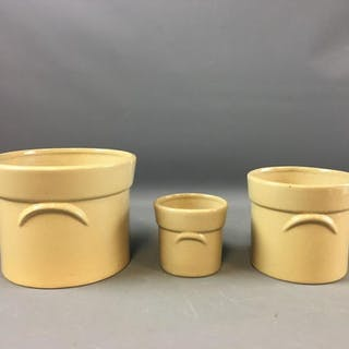 Group of 3 Ceramic planters