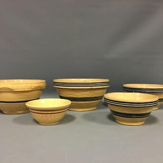 Group of 5 Stoneware Bowls