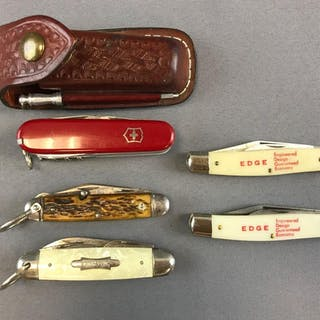 Group of 5 Pocket Knives