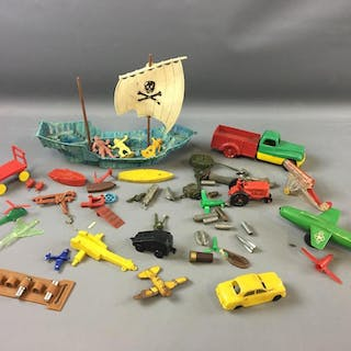 Group of Vintage Plastic Miscellaneous Toys