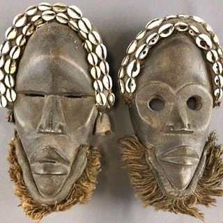 Group of 2 African Masks